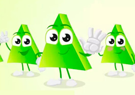Cartoon Triangle Character Set
