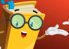 Vector Book Character Wearing Glasses