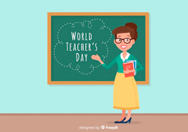 Free Teachers Day Illustration