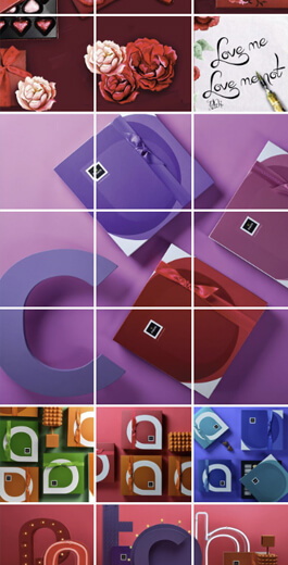 Amazing Instagram Layout Ideas - 3x3 example 1