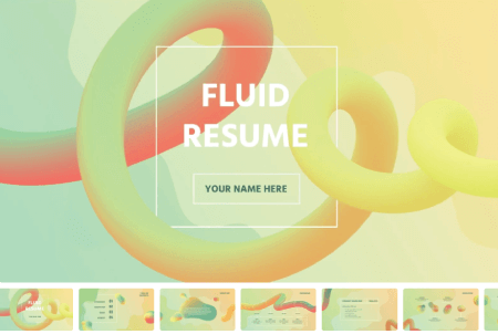 Resume Powerpoint Templates: Fluid Resume