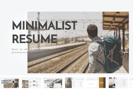 Resume Powerpoint Templates: Minimalist Resume