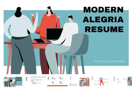 Resume Powerpoint Templates: Modern Alegria Resume