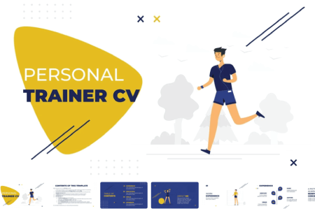 Resume Powerpoint Templates: Personal Trainer CV