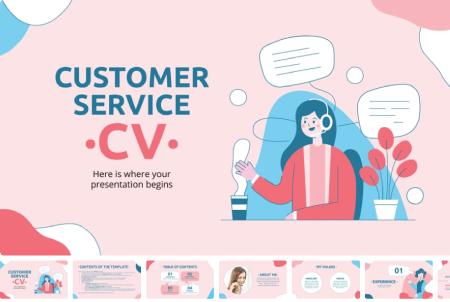 Resume Powerpoint Templates: Customer Service CV