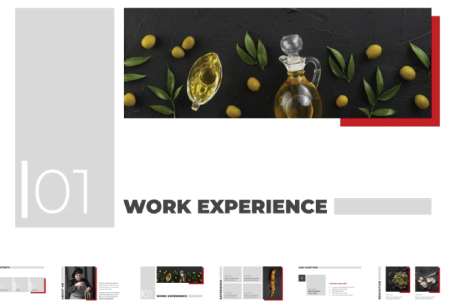 Resume Powerpoint Templates: Chef CV