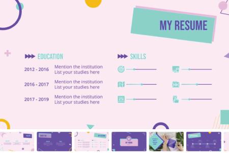 Resume Powerpoint Templates: Curato Portfolio