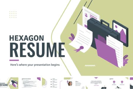 Resume Powerpoint Templates: Hexagon Resume