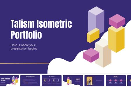 Resume Powerpoint Templates: Talism Isometric Portfolio