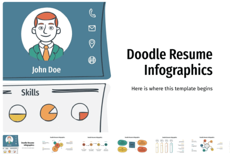 Resume Powerpoint Templates: Doodle Resume Infographics