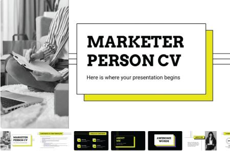 Marketer Person CV