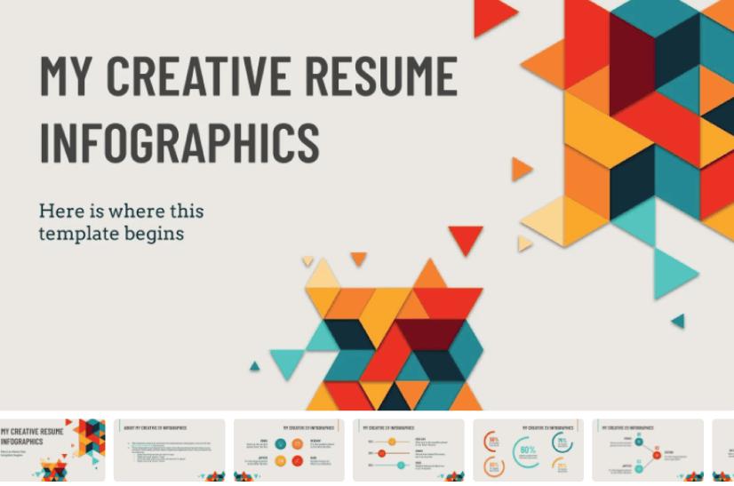 My Creative Resume Infographics