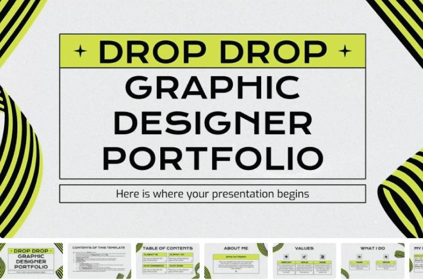 Drop Drop Graphic Designer Portfolio