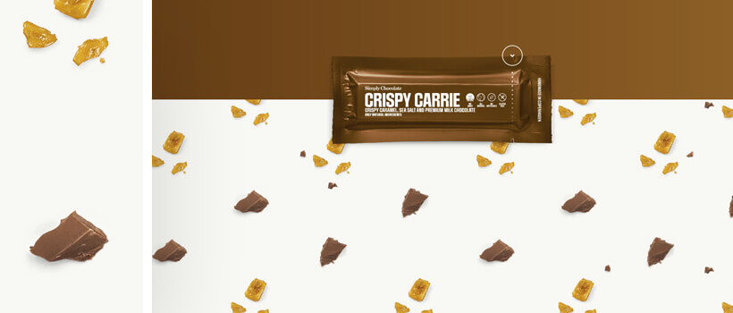 simplychocolate.dk - colorful patterns in web design