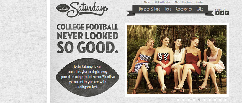 twelvesaturdays fashion web design with texture pattern background