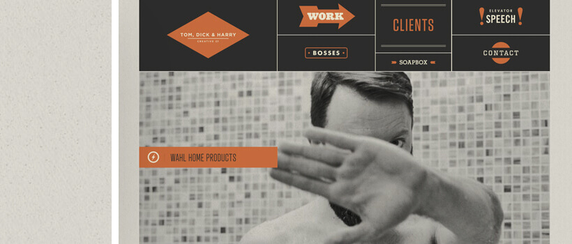 tdhcreative - retro style website design with retro patterns