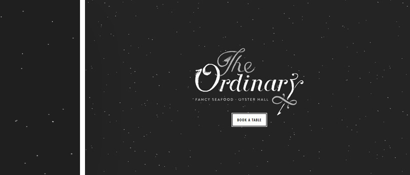 eattheordinary - website design with dots and dust background