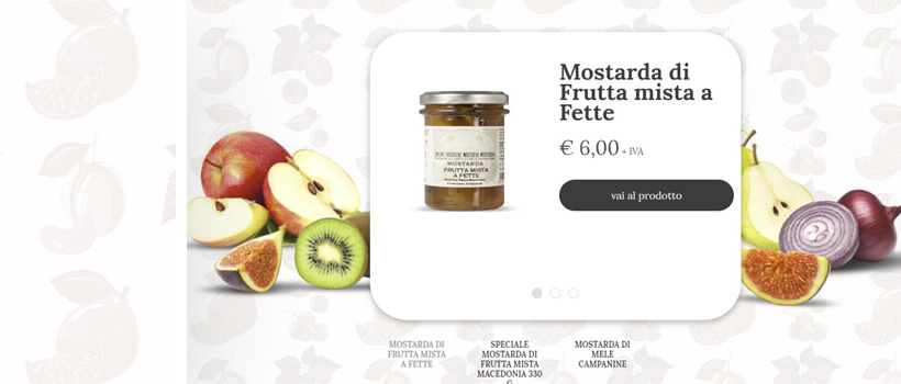 unionefabbrichemostardamantovana - fresh website design with fruits pattern background