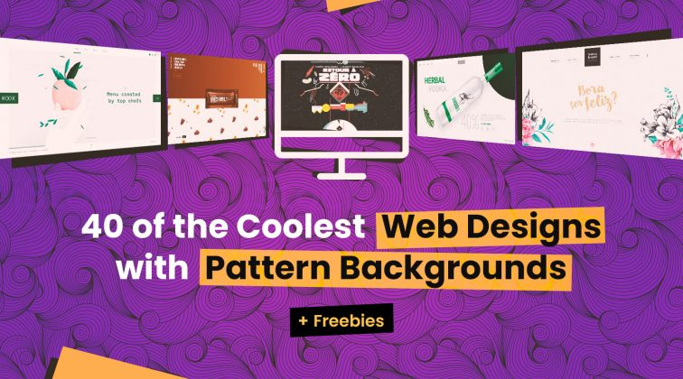 40 of the Coolest Web Designs with Pattern Backgrounds + Freebies