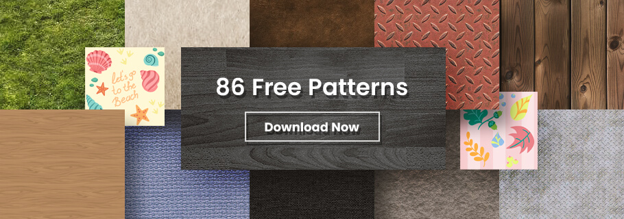 Patterns in Webdesign with 86 free patterns