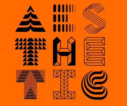 Aesthetic - creative geometry typography design inspiration