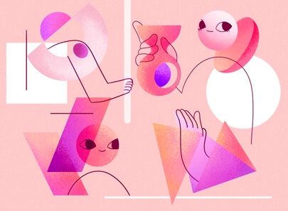 Graphic Design Trends 2020 - Geometric shapes example 2