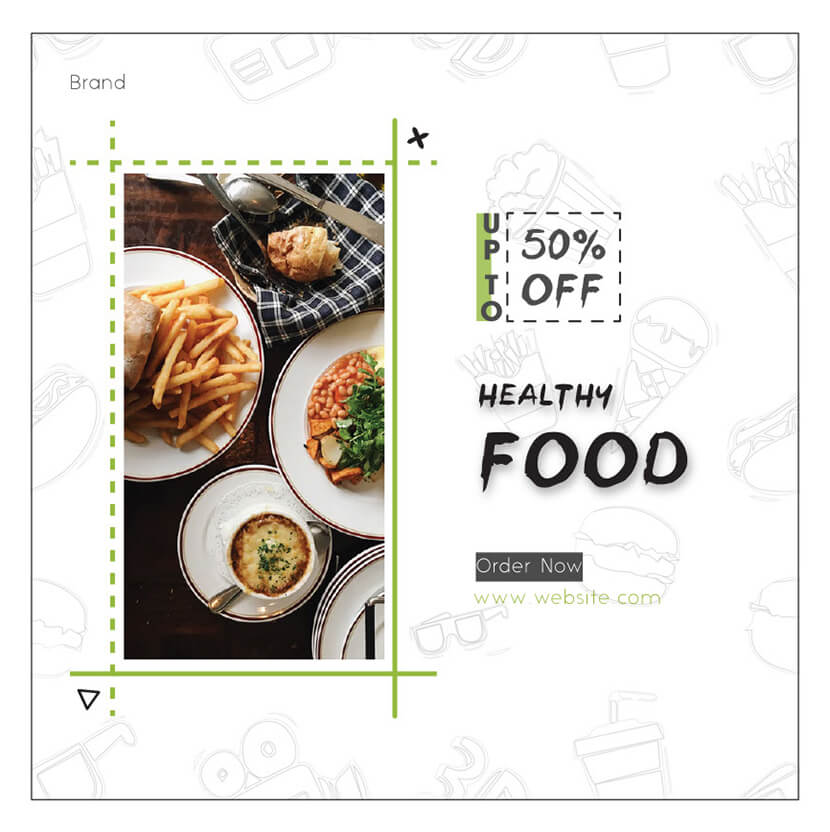 Healthy food banner ad for socials
