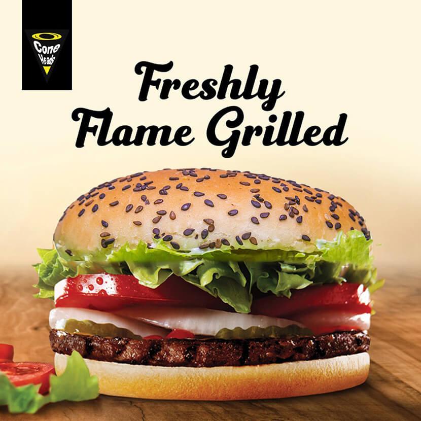 burger campaign social media banner