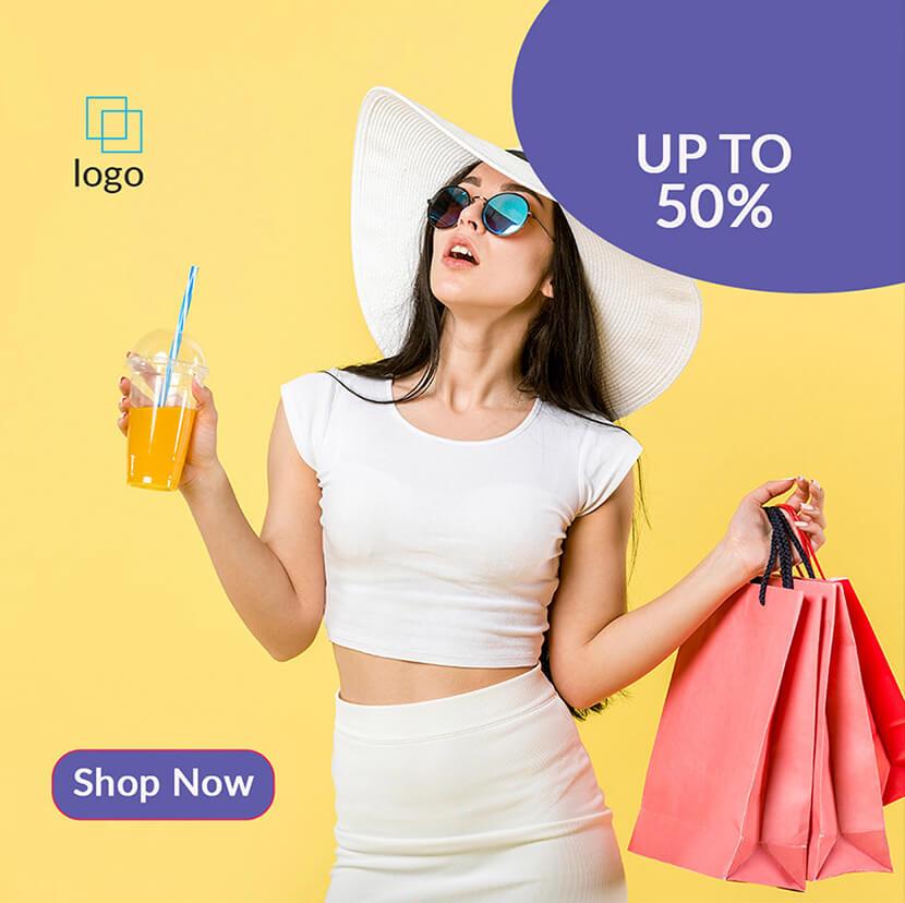 shop sale social media ad banner