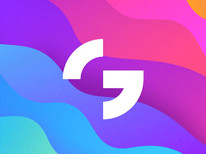 Logo Design Trends 2020 - Colorful Gradient logos example 2