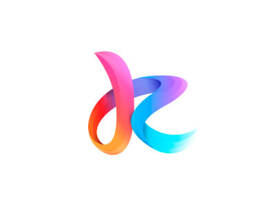 Logo Design Trends 2020 - Colorful Gradient logos example 3