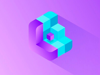 Logo Design Trends 2020 - 3D and isometric logos example 3