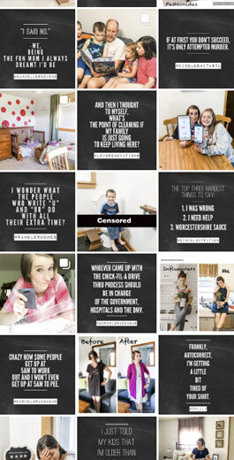 Amazing Instagram Layout Ideas - checkerboard example 2