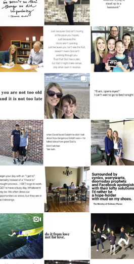 Amazing Instagram Layout Ideas - checkerboard example 3