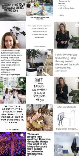 Increíbles ideas de diseño de Instagram: ejemplo diagonal 4