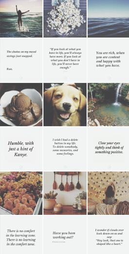 Amazing Instagram Layout Ideas - horizontal example 2