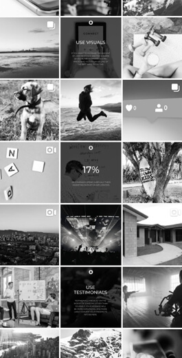 Amazing Instagram Layout Ideas - Colors and filters example 1