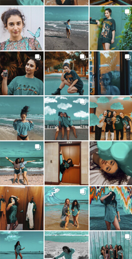 Amazing Instagram Layout Ideas - Colors and filters example 2
