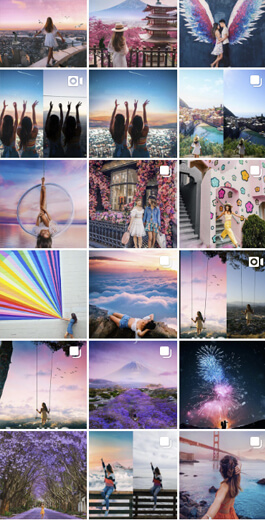 Amazing Instagram Layout Ideas - Colors and filters example 5