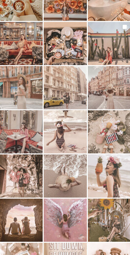 Amazing Instagram Layout Ideas - Colors and filters example 6