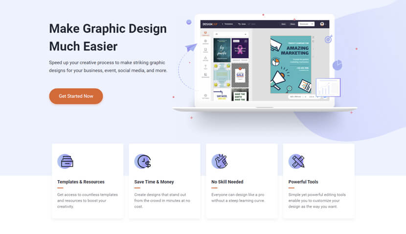 DesignCap - online graphic maker
