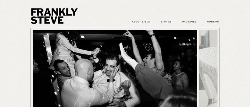 Minimalist website design - franklysteve