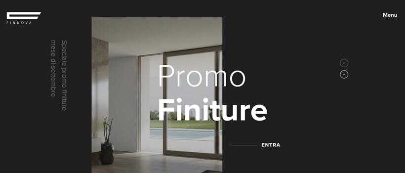 Minimalist website design - finnovasrl