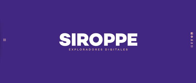 Minimalist website design - siroppe