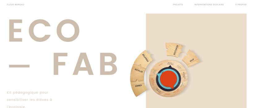 Minimalist website design - fleurmoreau