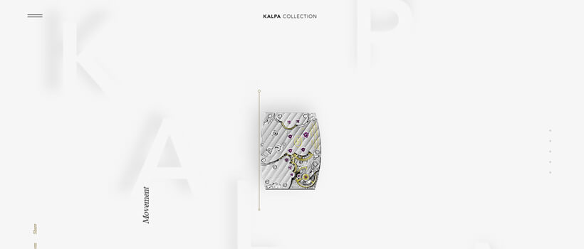 Minimalist website design - kalpa-parmigiani