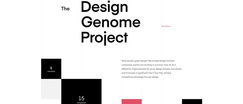 Minimalist website design - invisionapp