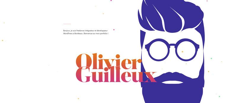 Minimalist website design - olivier-guilleux