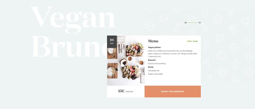Minimalist website design - vegoshi