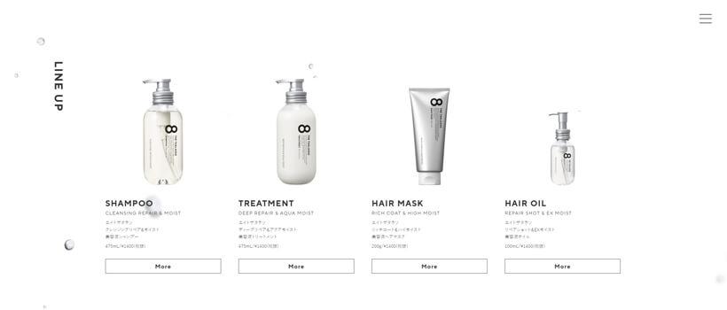 Minimalist website design - eightthethalasso